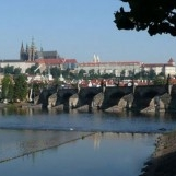 Prague castle and the Charles bridge