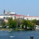 Prague castle above river Vltava