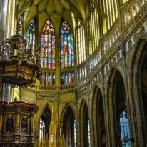 The interior of St.Vitus cathedral