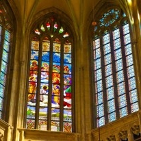 Stained glass of St.Barbara's church